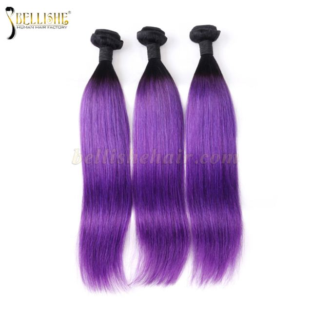 Purple Straight Peruvian Virgin Human Hair Human Hair Extension