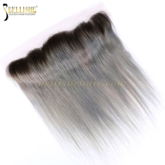 1b Grey 100 Vinrgin Human Hair Weave Wholesale Price 134 Lace
